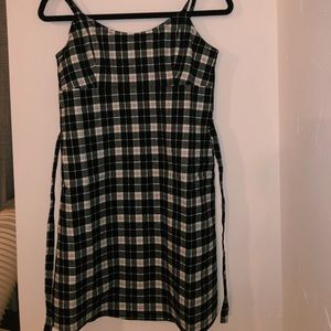 Brandy Melville white/black checkered dress. (NEW)